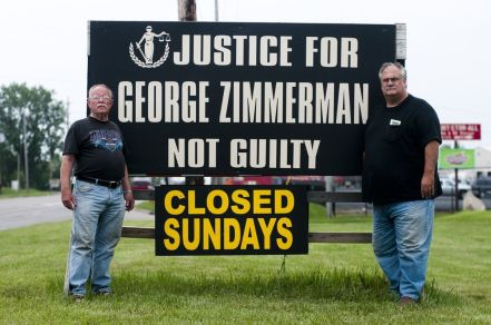 Community members and business owners coming out in support of murderer George Zimmerman